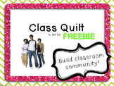 Class Quilt Activity - FREE