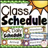 Class Schedule - Editable {Dots Classroom Set}