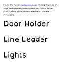 Class job titles- dyslexic friendly