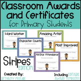 Classroom Awards & Certificates for Primary Students {Stripes}