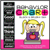 Classroom Behavior Chart {Black & Bright Set}