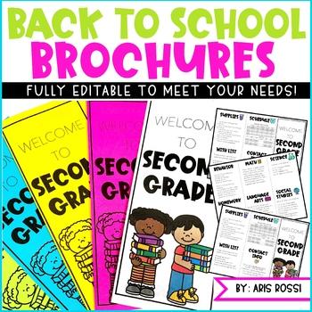 Back to School Brochure {EDITABLE}