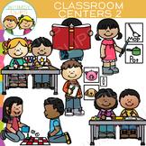 Little Shorties Classroom Centers Clip Art - Two