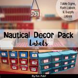 Classroom Decor Nautical Theme - Labels by Kim Adsit