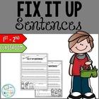 Classroom Fix It Up Sentences Starter Pack {Freebie}