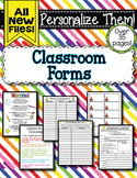 Classroom Forms - Beginning of the Year
