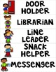 Classroom Helper Signs with 4 Passes