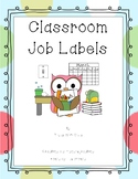 Classroom Job Labels - Updated