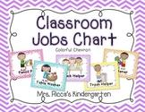 Classroom Jobs Chart (Bright Chevron)
