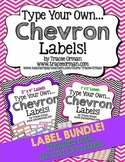 Labels Editable Bundle: Chevron {1x2 & 2x4}