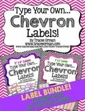 Labels Editable Bundle: Chevron {1x2 & 2x4}
