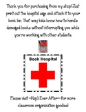 Classroom Library Book Hospital Sign