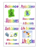 Classroom Library Science Basket Labels