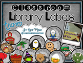 Classroom Library Themed Labels for Books & Bins