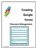 Classroom Management- How to Make a Google Docs Form