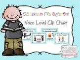 Classroom Management Voice Level Clip Chart (Blue Polka Dot)