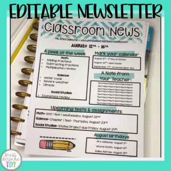 Classroom Newsletter - Chevron