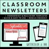 Newsletters for the Classroom: Watercolor and Ink Style