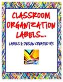 Classroom Organization Labels