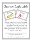 Classroom Organization/Supply labels