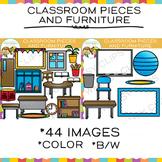 Classroom Pieces Clip Art