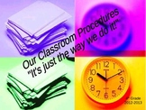 Classroom Procedures Document