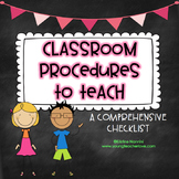 Classroom Procedures to Teach {Back to School Classroom Ma