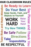 Classroom Rules - Poster Idea (Color)