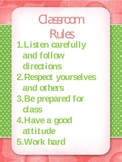 Classroom Rules, Rewards, and Consequences