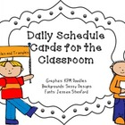 Classroom Schedule Cards- OWLS