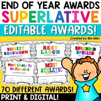 Classroom Superlative Awards (72 Awards!)