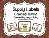 Classroom Supply Labels Camping Theme