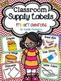Classroom Supply Labels {Primary Chevron Theme}