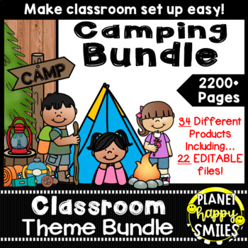 Classroom Theme Bundle ~ Camping Theme
