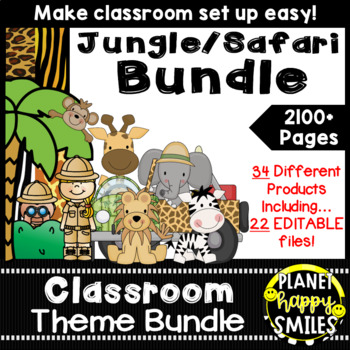 Classroom Theme Bundle ~ Jungle/Safari Theme