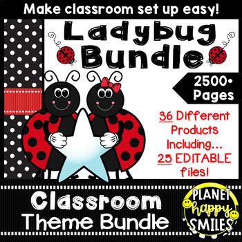 Classroom Theme Bundle ~ Ladybug Theme
