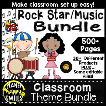 Classroom Theme Bundle ~ Rock Star Theme