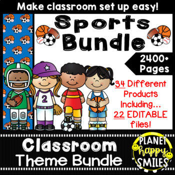 Classroom Theme Bundle ~ Sports Theme