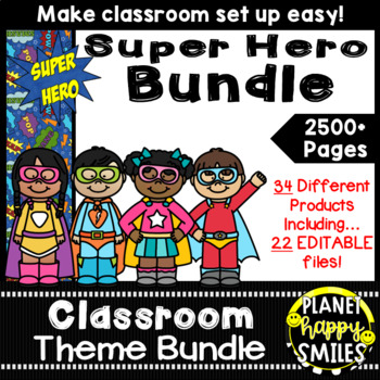 Classroom Theme Bundle ~ Super Hero Theme