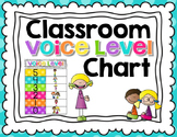 Classroom Voice Level Chart {Bright Chevron}