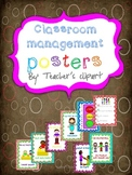 Classroom rules and management posters