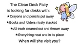 Clean Desk Fairy Poster