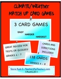 Climate Weather Match Up Card Games