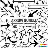 Clip Art - 250 Doodle Arrows