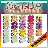 Clip Art: Butterflies,  Garden, Spring, polka dot, summer, bugs