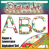 Clip Art: Christmas Alphabet Set Fonts Font