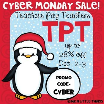 Clip Art Freebie - Cyber Monday Sale Image {Ink n Little T