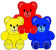 Clip Art--Little Colored Bears
