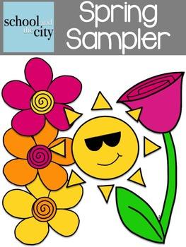 Clip Art Set: { Spring Sampler } Sunshine & Flowers