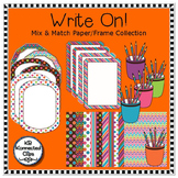 Clip Art - Write On! Mix and Match Paper/Frame Collection